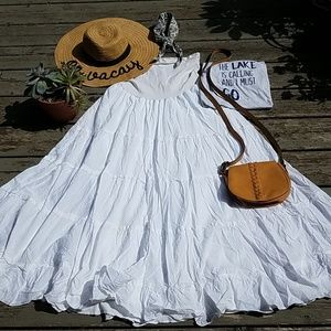 Motherhood maternity  white maxi skirt
